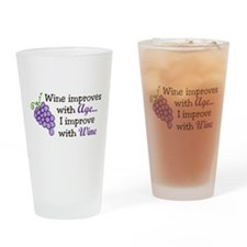 Wine Improves With Age Drinking Glass