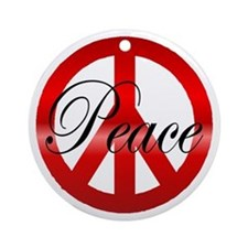 Peace Christmas Tree Ornament
