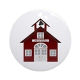 Little Red Schoolhouse Christmas Tree Ornament
