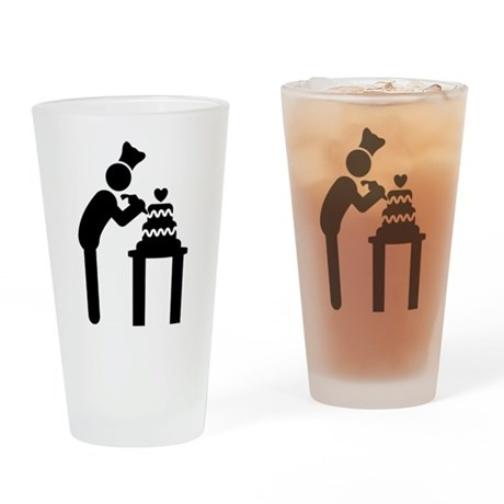 Cake Making Drinking Glass