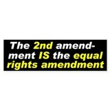 Equal Rights Bumper Car Sticker
