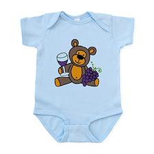 Wine Teddy Bear Infant Bodysuit