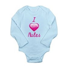 I Love/Heart Mules Long Sleeve Infant Bodysuit