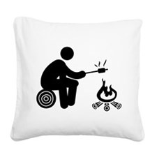 Marshmallow Burning Square Canvas Pillow