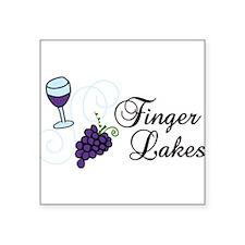 "Finger Lakes Square Sticker 3"" x 3"""