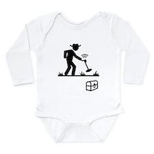 Metal Detecting Long Sleeve Infant Bodysuit