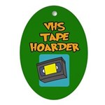 VHS Tape Hoarder Ornament (Oval)