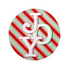 """JOY on stripes 3.5"""" Button (100 pack)"""