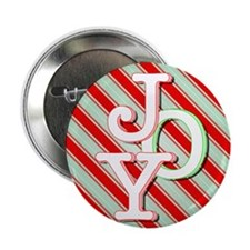 "JOY on stripes 2.25"" Button (10 pack)"