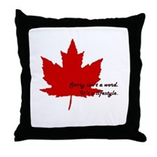 #canadianlife Throw Pillow