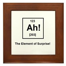 The Element of Surprise Framed Tile