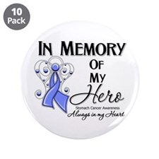"In Memory Stomach Cancer 3.5"" Button (10 pack)"