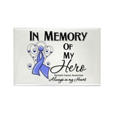 In Memory Stomach Cancer Rectangle Magnet