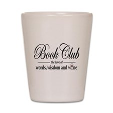 Book Club Shot Glass