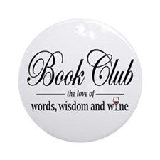 Book Club Ornament (Round)