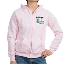 In Memory Ovarian Cancer Zip Hoodie