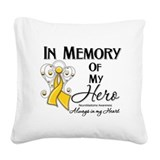 In Memory Neuroblastoma Square Canvas Pillow