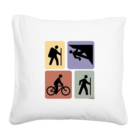 Multi Sport Guy Square Canvas Pillow