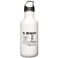 In Memory Lung Cancer Water Bottle