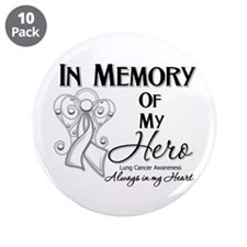 """In Memory Lung Cancer 3.5"""" Button (10 pack)"""