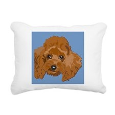 RED POODLE 1.png Rectangular Canvas Pillow