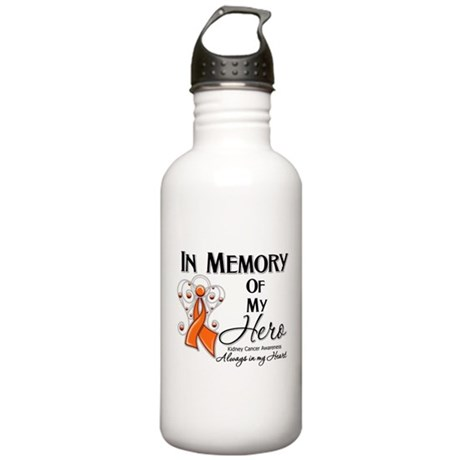 In Memory Kidney Cancer Stainless Water Bottle 1.0