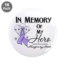 "In Memory General Cancer 3.5"" Button (10 pack)"