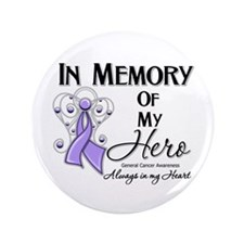 "In Memory General Cancer 3.5"" Button (100 pack)"