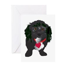 BLACKDOG.png Greeting Card