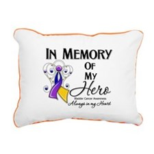 In Memory Bladder Cancer Rectangular Canvas Pillow