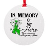 In Memory Bile Duct Cancer Ornament