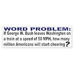Word Problem Bumper Sticker