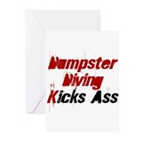 Dumpster Diving Kicks Ass Greeting Cards (Package