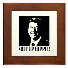 Shut up Hippie Framed Tile
