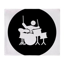 Drummer Throw Blanket