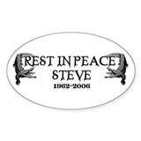 RIP Croc Hunter Oval Decal