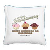 CupcakeChemistry.png Square Canvas Pillow