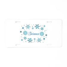 Custom name Snowflakes Aluminum License Plate