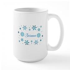 Custom name Snowflakes Mug