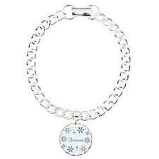Custom name Snowflakes Bracelet