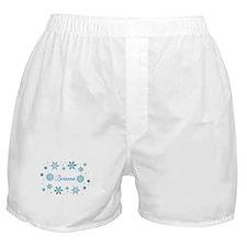 Custom name Snowflakes Boxer Shorts