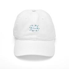 Custom name Snowflakes Baseball Cap