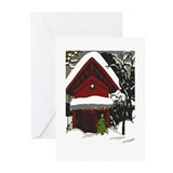 Japanese Style House Christmas Greeting Cards (Pk