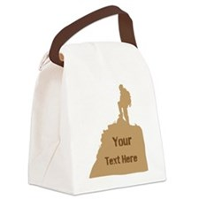 Hiking Climbing. Brown. Canvas Lunch Bag