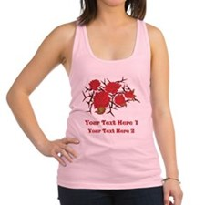 Red Roses and Red Text. Racerback Tank Top