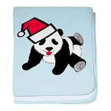 Funny Cute Santa Panda baby blanket