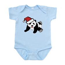 Funny Cute Santa Panda Infant Bodysuit