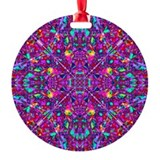 Hippie Purple Mandala Pattern Ornament