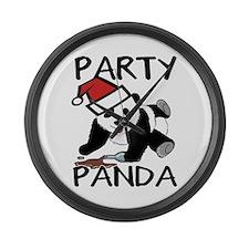 Funny party panda design Large Wall Clock