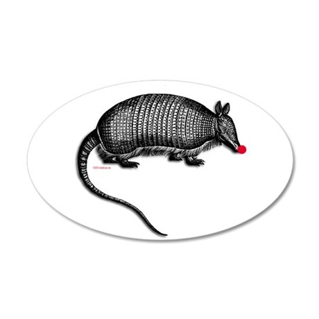 armadillo.png 20x12 Oval Wall Decal